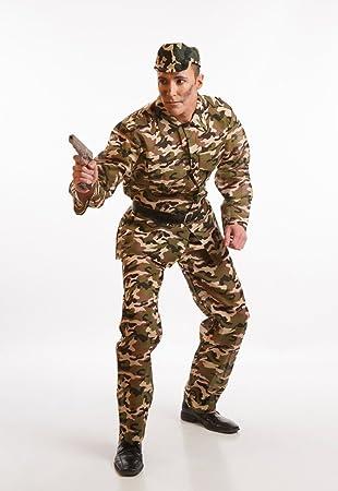 Disfraz de Militar de camuflaje para hombre: Amazon.es ...