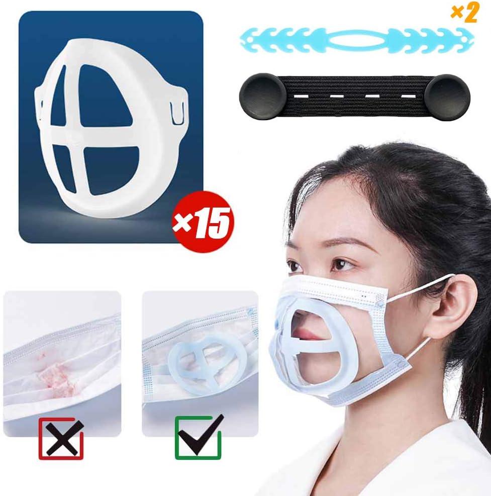 15PCS Marco de soporte interno para máscara,Soporte cojín interior 3D para la protección de la barra de labios,Aumento de la distancia entre la nariz y la boca-Puede hacer que la respiración sea suave