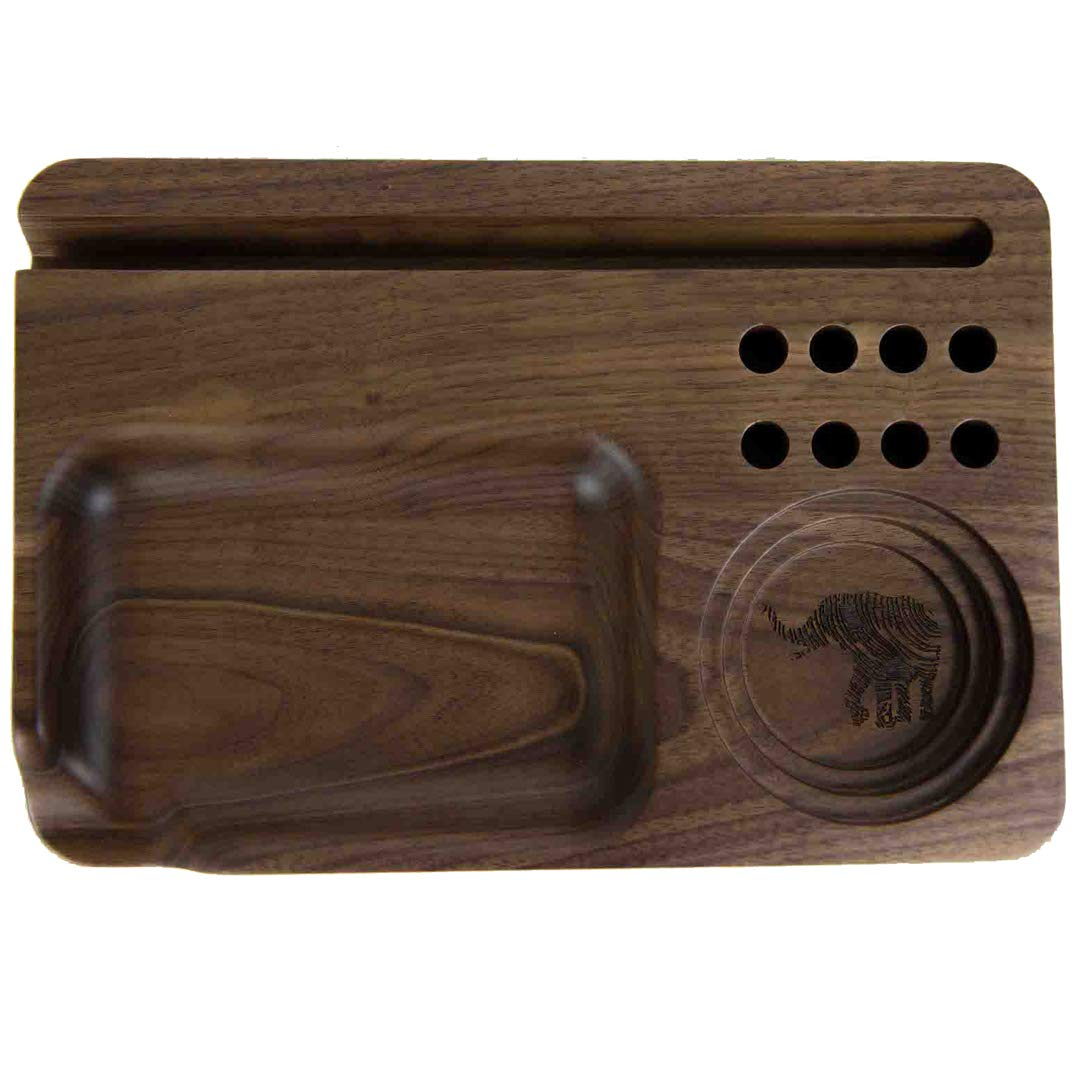 Blunt Rolling Tray - Matriarch - Walnut Wood - Accessory - 11'' x 7.5'' x 0.94''
