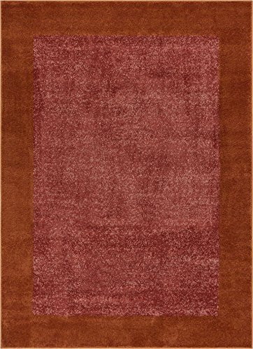 Border Red Area Rugs (Frontier Border Terracotta Red Geometric Area Rug 3x5 (3'3