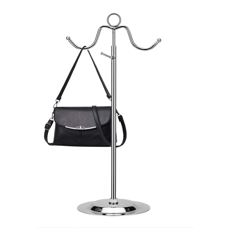 Adjustable Double Hook Handbag Purse Display Stand with Handle