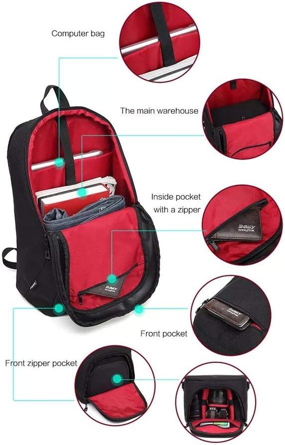 Camera Sling Bag Multifunction Camera Video Camcorder Bags Large Capacity 2 in 1 DSLR Camera Bag Shoulder Padded Waterproof Backpack Color : Green, Size : 44x30x16cm