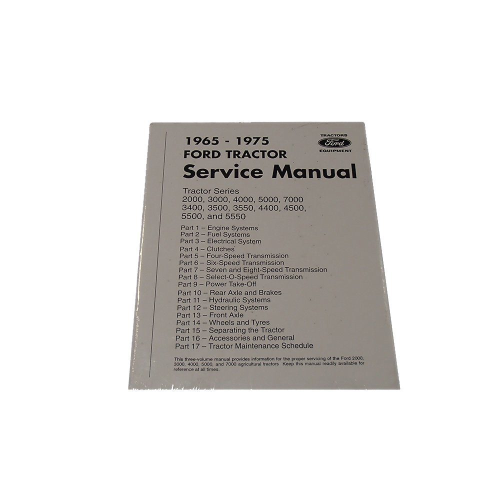 Amazon.com: 65FTSM Tractor Service Manual for Ford 2000 3000 4000 5000 7000  3400 3500 3550: Industrial & Scientific