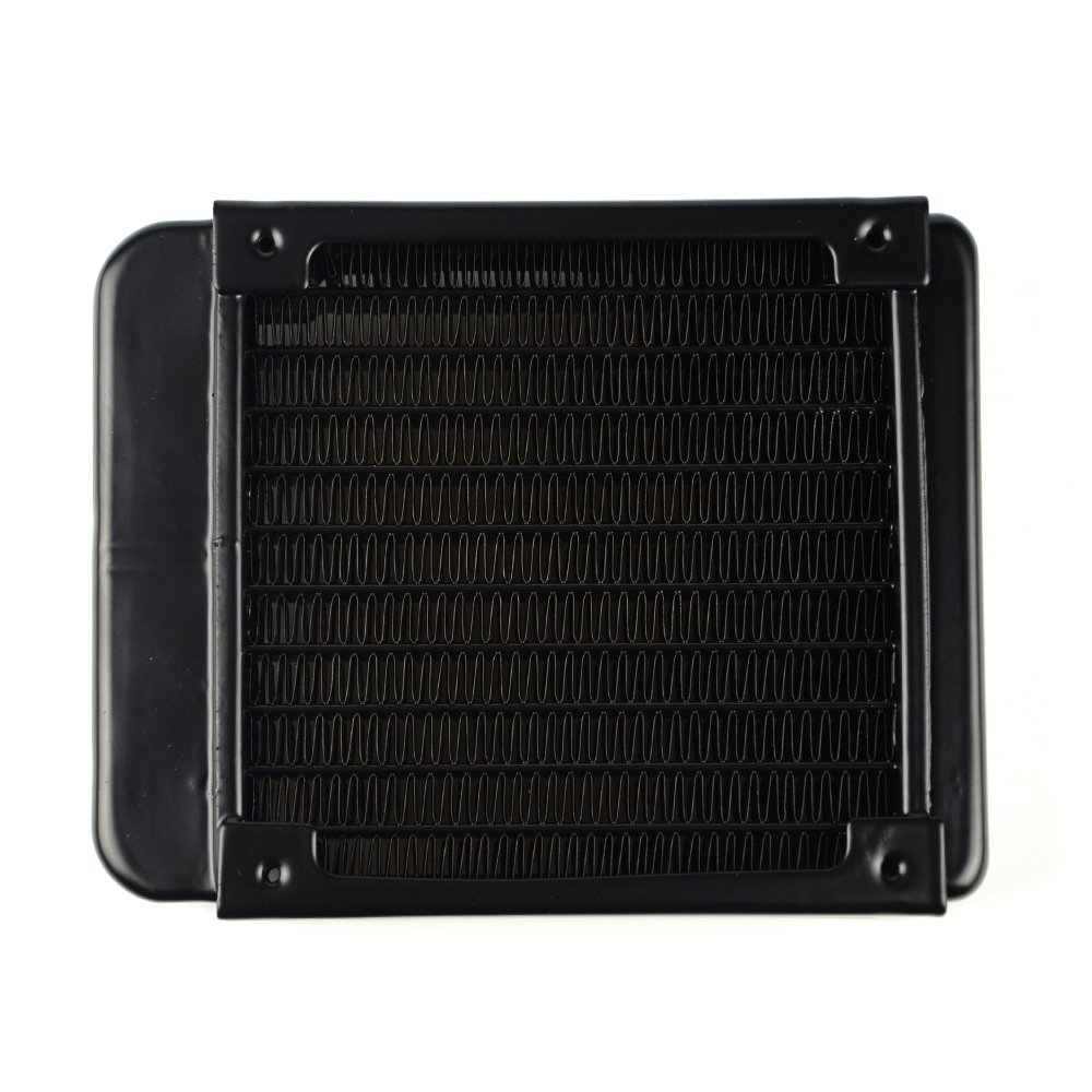 BXQINLENX 10 Pipe Aluminum Heat Exchanger Radiator for PC CPU CO2 Laser Water Cool System Computer 120mm B