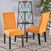 Christopher Knight Home 295177 Corbin Dining Chair, Orange