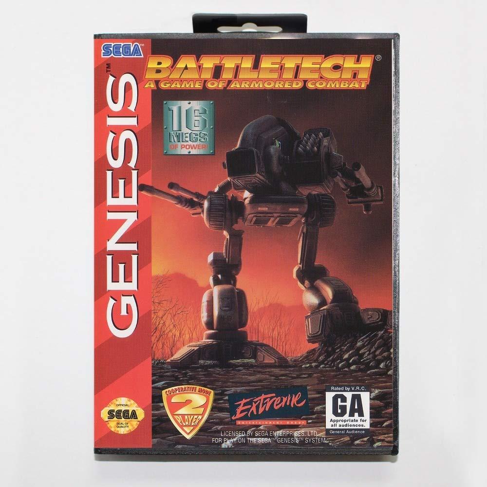 ROMGame 16 Bit Sega Md Game Cartridge With Retail Box - Battletech Game Card For Megadrive Genesis System