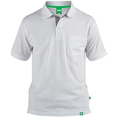 Duke London - Polo - para Hombre Blanco Blanco XXXL: Amazon.es ...