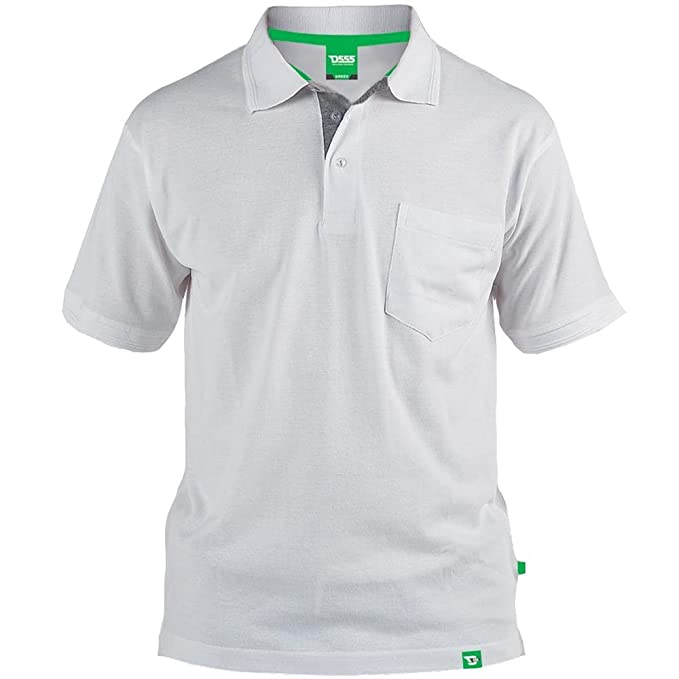 Duke London - Polo - para Hombre Blanco Blanco XXXL: Amazon.es ...