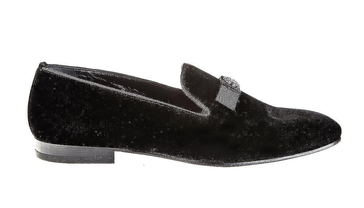 - Roberto Cavalli 6409 Black Leather Italian Designer Men shoes