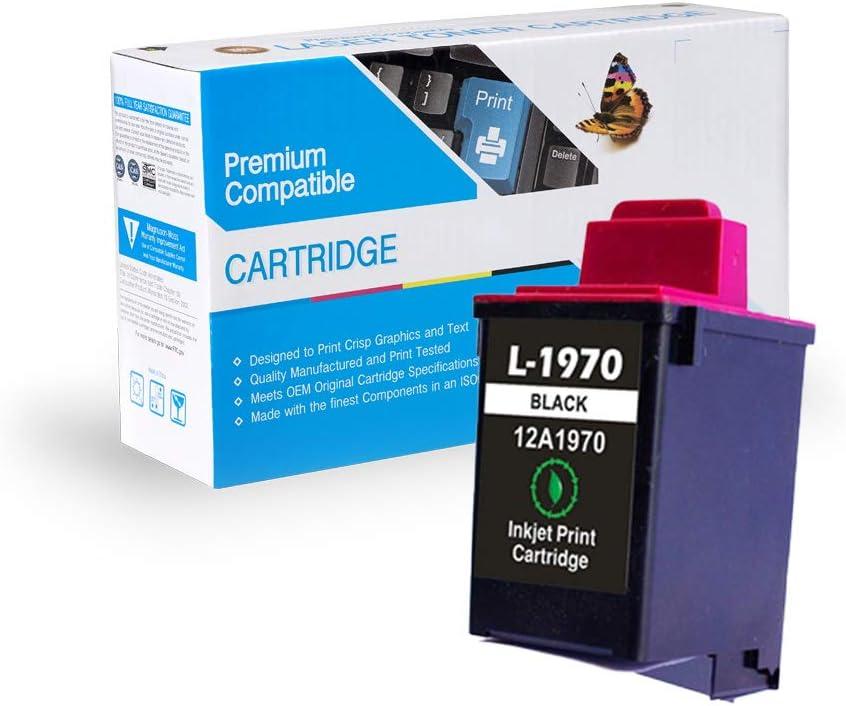 Black 5000 Print.After.Print Remanufactured Inkjet Replacement for Lexmark 12A1970 5700 Works with:Z11,Z31; Jetprinter 3200 7200; IJ300 70 45 IJ700 IJ900; Optra Color 40 5770 7000 IJ750
