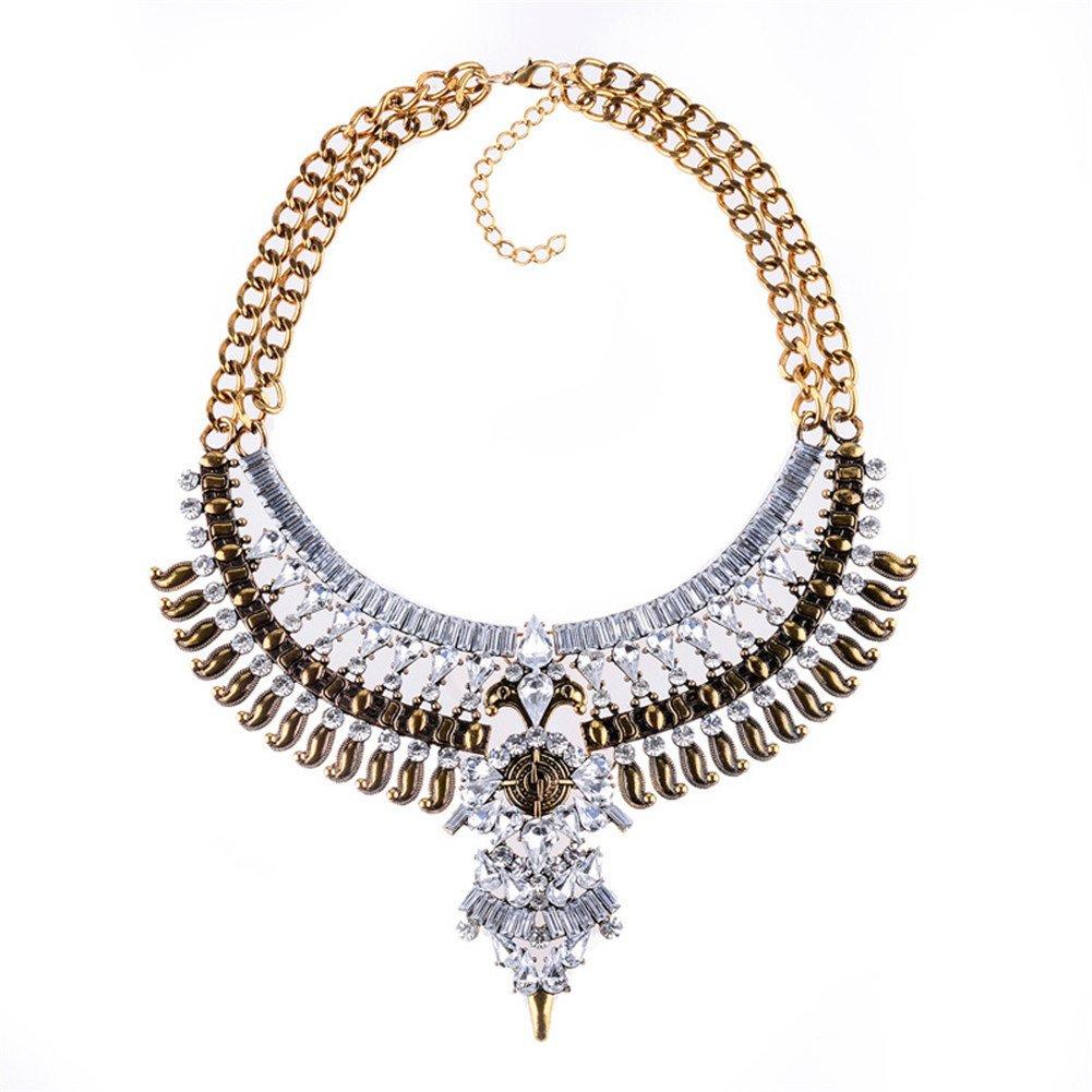 Fashion Bib Bohemian Statement Necklace Punk Ethnic Style Jewelry for Women SIYWINA JLXL002-1