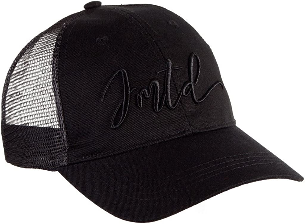 IMTD Designer Curved Mesh Trucker with Famous IMTD Scribble Signature Embroidery Dubai Ibiza Baseball Cap