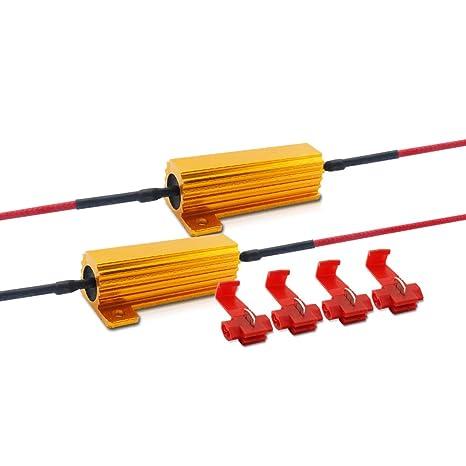 50W 6 ohmios Resistencia de carga del LED para el arreglo Bulbo del LED Rápido Hyper