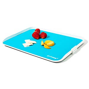 Go Happy Kids Travel Tray - Easily Attaches to Airplane & Train Tray Tables! Lightweight, Sturdy, Easy to Clean & Stow Travel Tray
