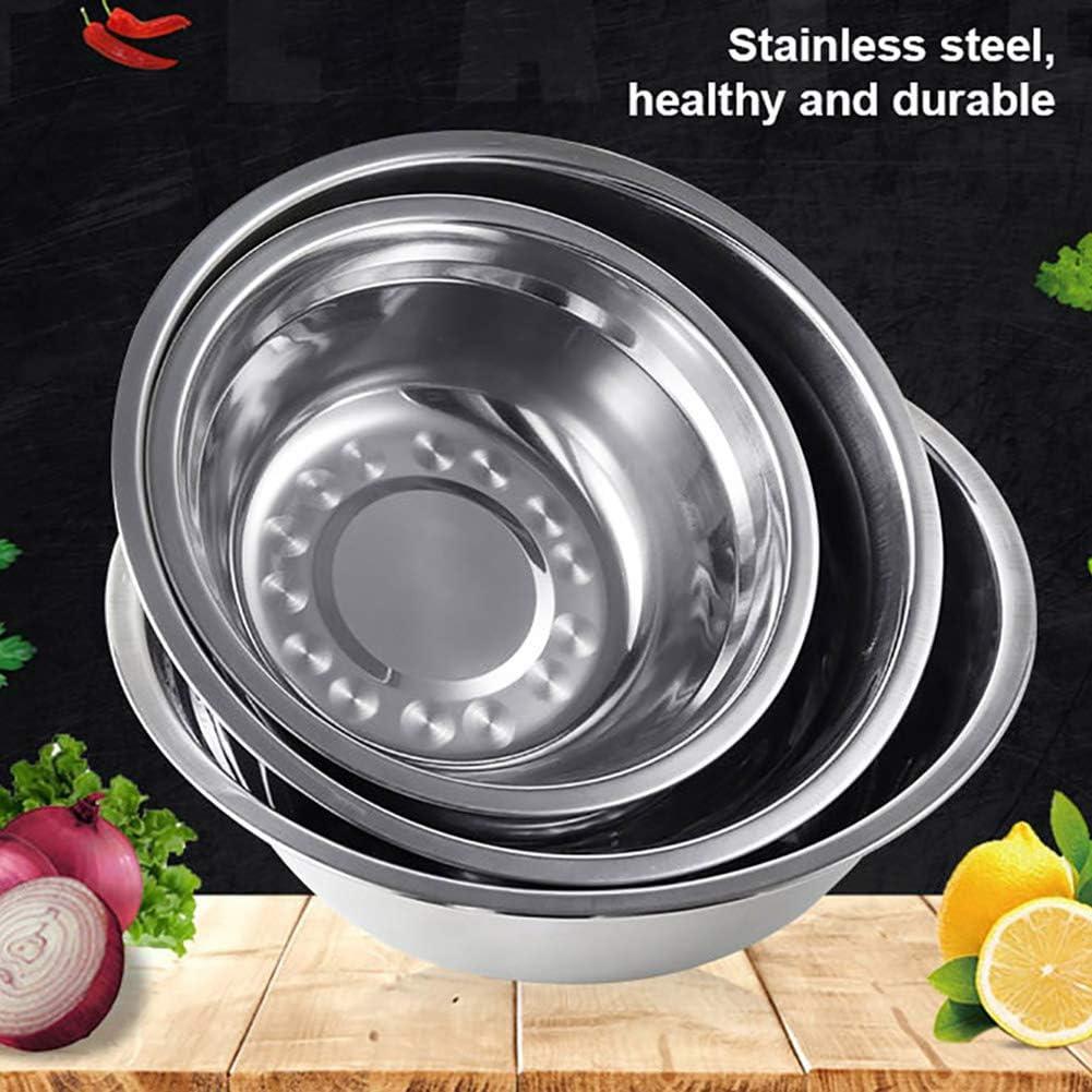 tianxiangjjeu Lavabo De Acero Inoxidable, 1 PCS Especificaciones Opcionales Cocina Casera Redonda Escuela Gruesa Cantimplora Lavabo Para Estudiantes Plata Medio