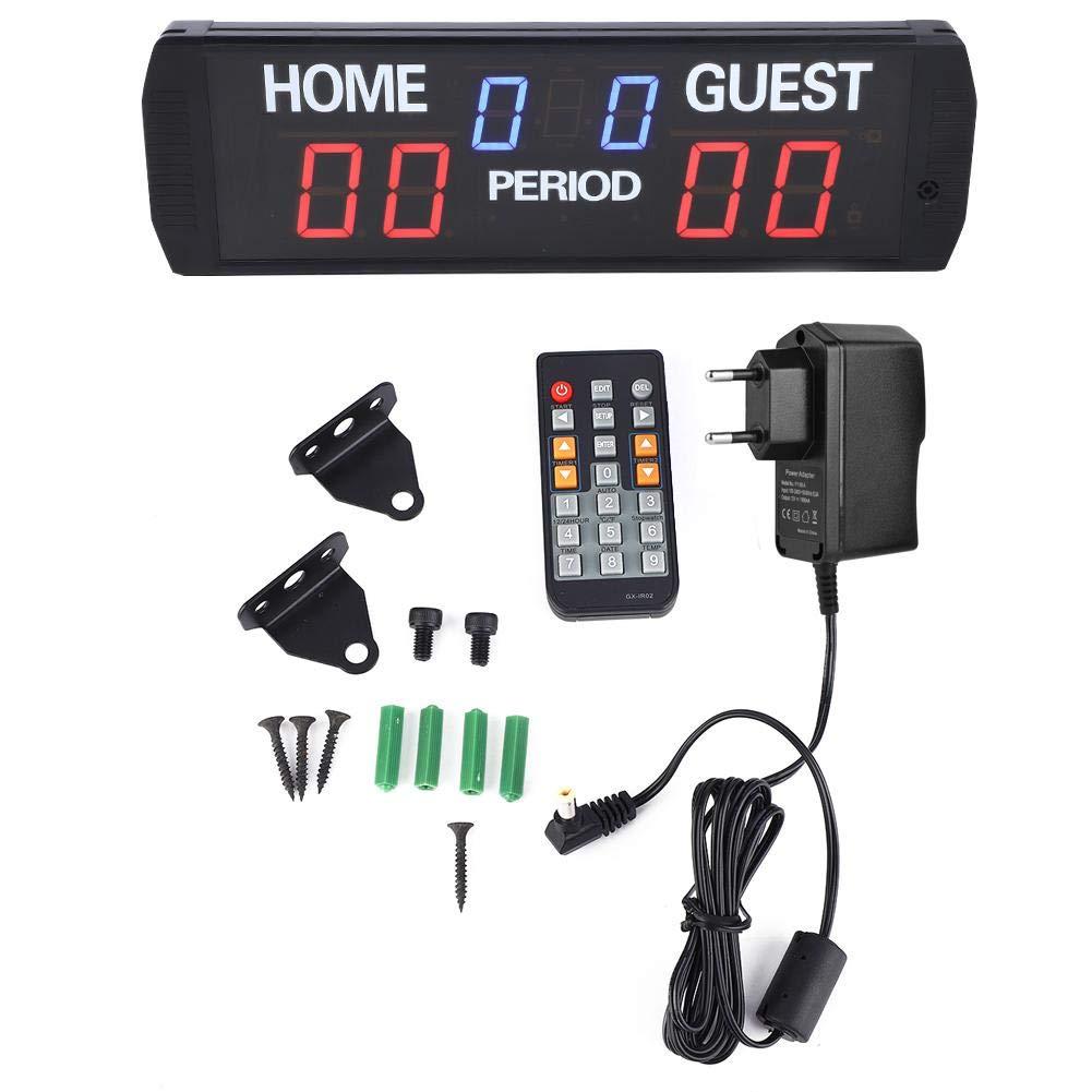 Gi6T- (3 + 2.3) R Marcador electrónico, marcador electrónico Marcador electrónico Led Digital Score Keeper 6 dígitos Led Timer Marcador electrónico para juegos(ER PIUG)