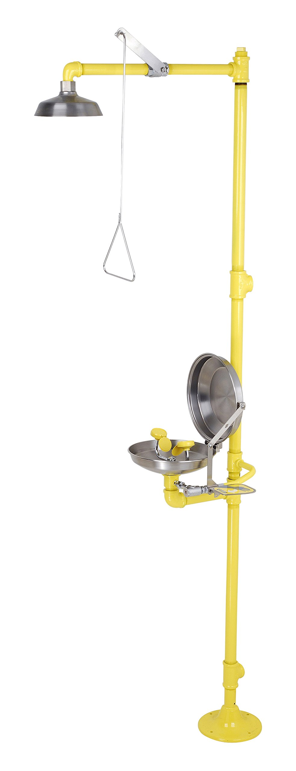 Acorn Safety Combination Showers S2340-CS1 Combo Station Floor Mounted Eye/Face Wash Bowl & Cover Showerhead