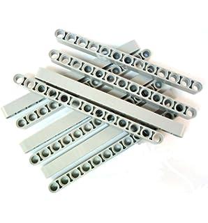 LEGO® Posten Steine 10 Stück Stein 1 x 16 Noppen schwarz lang