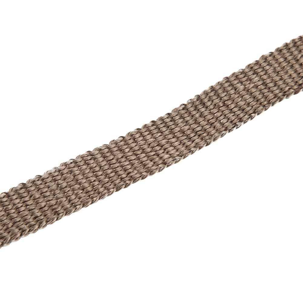 Braun Auspuffhitzefolie mit 4 Edelstahl Kabelbindern Schwarz f/ür Motorrad F/ächerkr/ümmer Motorrad Hitzeschutzband, 5m Auto Isolierband