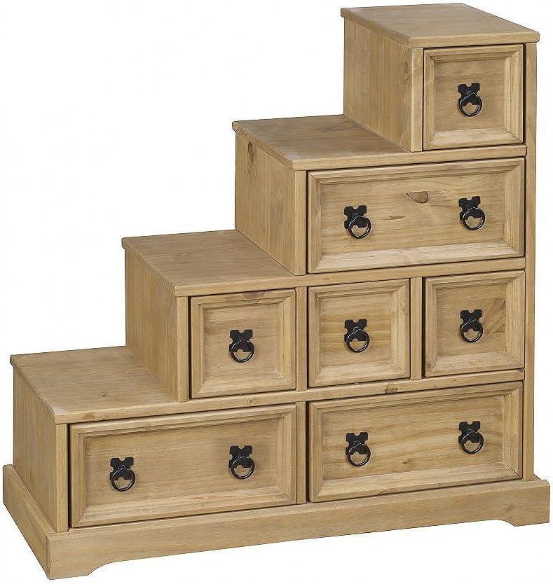 Corona - Mueble de escalera (madera de pino maciza): Amazon.es: Hogar