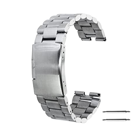 Amazon.com: Moto 360 reloj Band, LUCCO 22 mm Acero ...