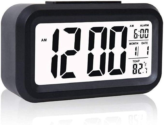 Flow.month Digital Smart Back light Battery Operated Alarm Table Clock