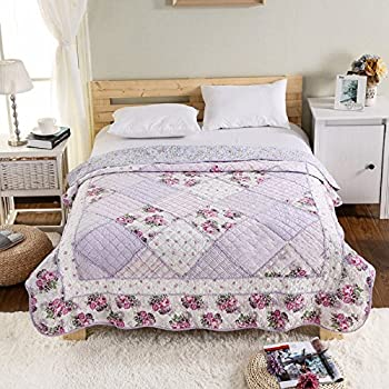 Amazon.com: Alicemall Purple Country Style Quilts Lavender Color ... : lavender quilts - Adamdwight.com