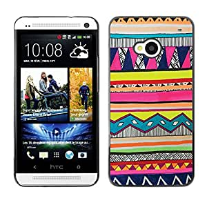 - Hipstr Nebula Aztec Tribal Pattern - - Fashion Dream Catcher Design Hard Plastic Protective Case Cover FOR HTC One M7 Retro Candy