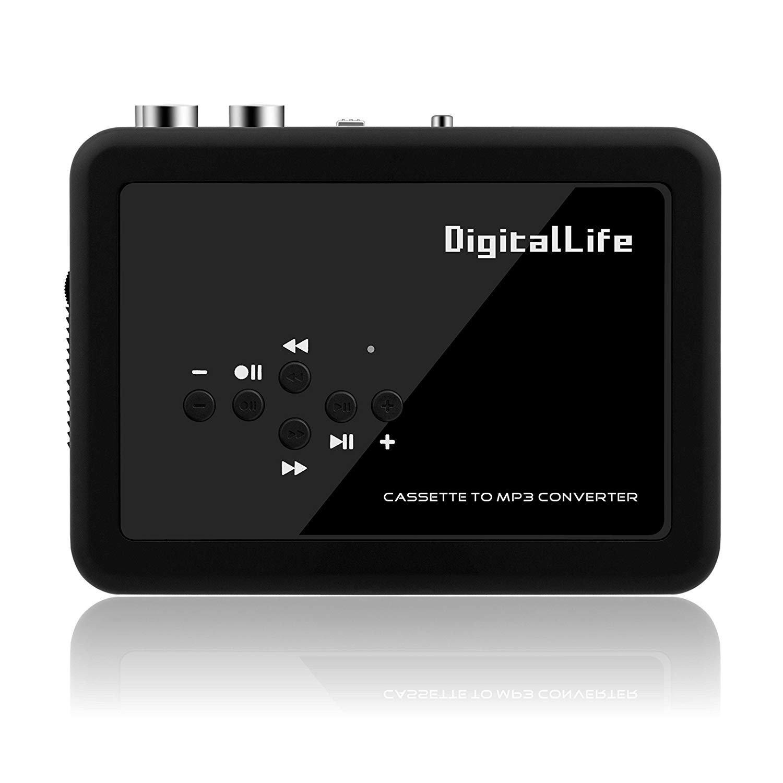 DigitalLife Walkman Cassette Player, Cassette to MP3 Converter - USB Audio Cassette Player and Recorder Convert Cassette to MP3 CD No need PC