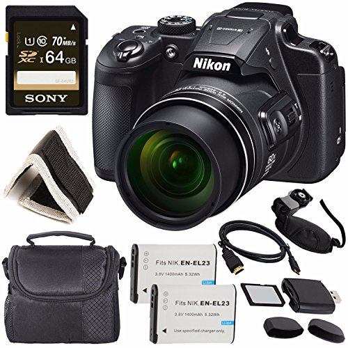 Nikon COOLPIX B700 Digital Camera 26510 + Rechargable Li-Ion Battery + Sony 64GB SDXC Memory Card + Soft Carrying Case + Pro Hand Camera Grip + HDMI Cable + Card Reader + Memory Card Wallet Bundle Review