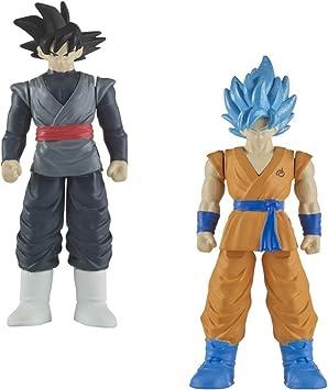 Dragon Ball Super - Goku SS Blue & Goku Black Pack de 2 combate (Bandai 35943): Amazon.es: Juguetes y juegos
