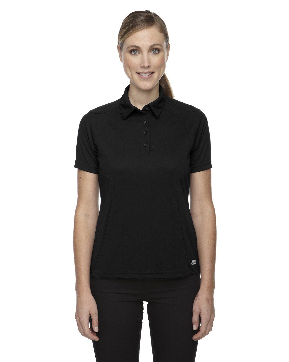 Ash City Womens Dolomite Performance Polo (X-Large, Black) by Ash City Apparel