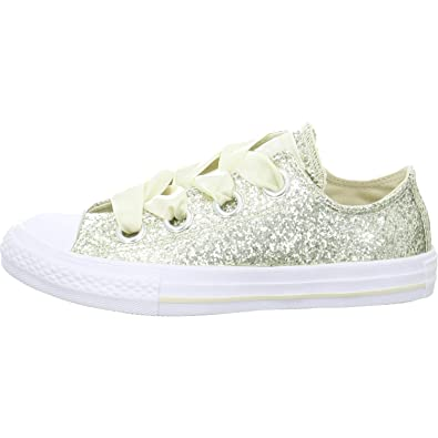 02f4aa8e7a5ace Converse Juniors CTAS Big Eyelets OX - Natural Ivory White (1 M US Little
