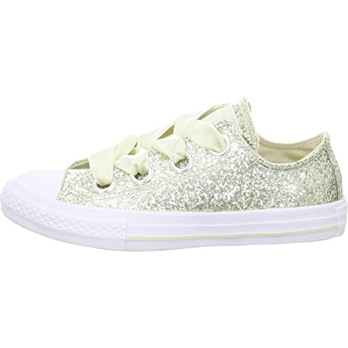 1f167fa94a Converse Chuck Taylor All Star Big Eyelets Ox Natural Ivory Synthetic Youth  Trainers: Amazon.es: Zapatos y complementos