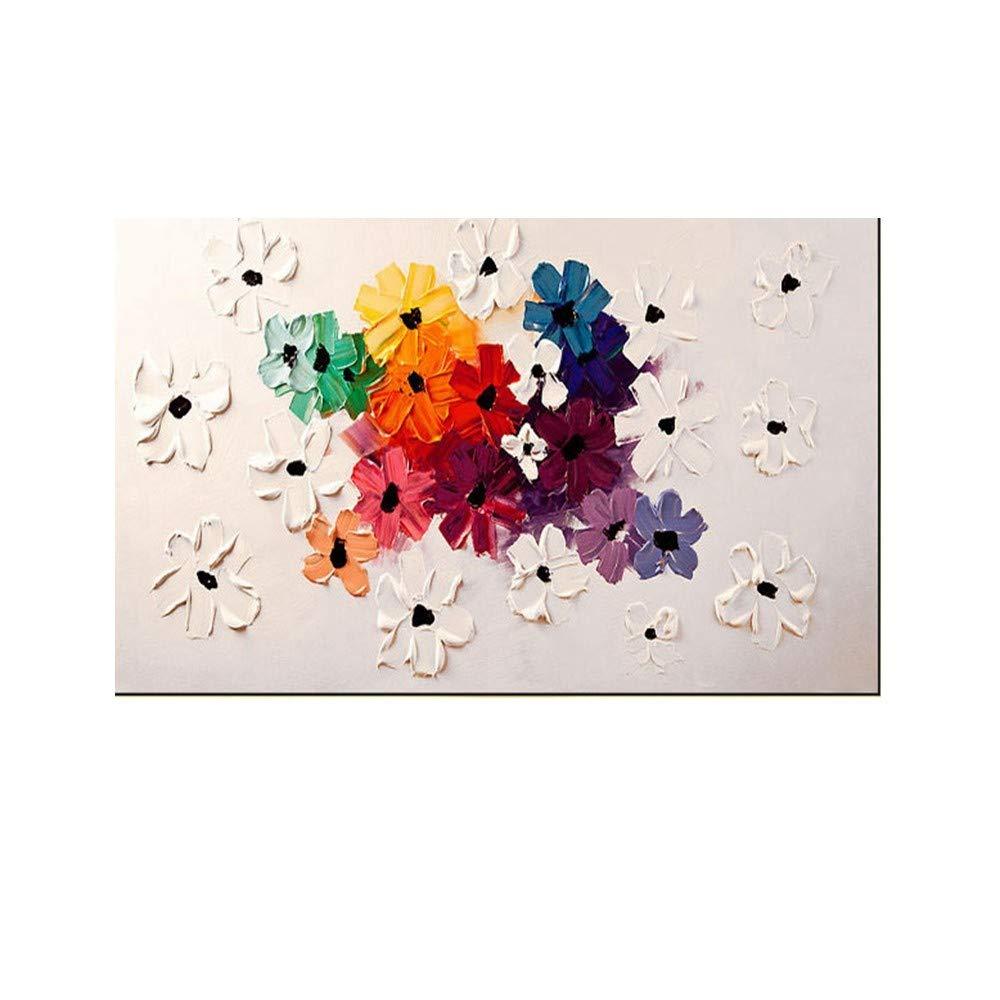 OME&MEI Pintura Al Óleo Pintada A Flores Mano Sala De Estar Pintando A Mano Flores A Estéreo 3D Sin Marco-50X80Cm 7e343b