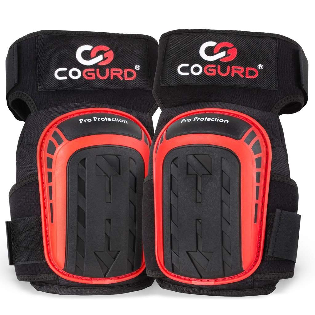 COGURD Professional Gel Knee Pads for Work Construction, Gardening, Cleaning, Flooring and Garage - Heavy Duty Support Kneepads with High Density Foam Padding Gel Cushion and Adjustable Velcro Straps by COGURD