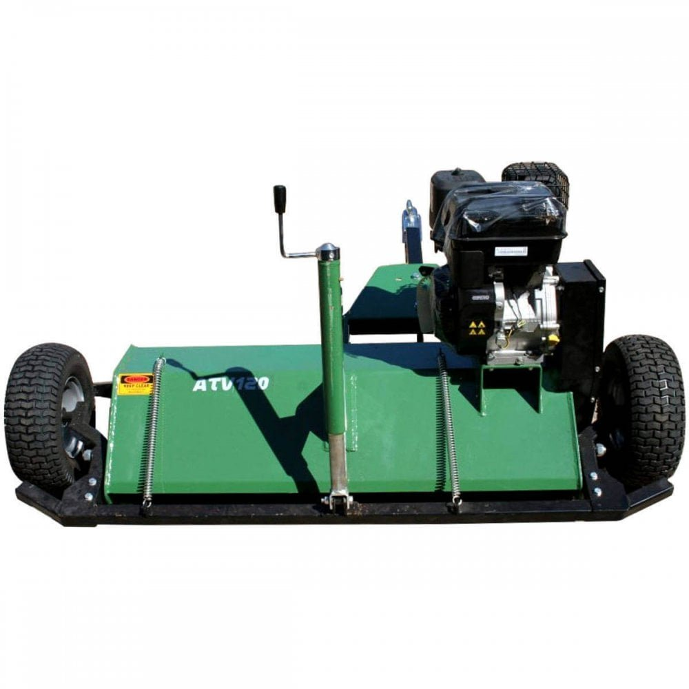 1 2M CUTTING WIDTH 15HP LONCIN REPLICA PETROL POWERED FLAIL MOWER GREEN