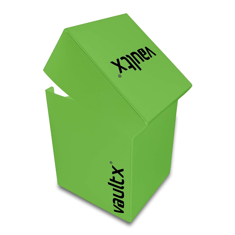 Vault X/® Caja Grande de Cartas con 150 Fundas Negras Tama/ño Grande para 100+ Cartas en Fundas Porta Tarjetas Libre de PVC para TCG Azul