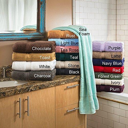 Bath Towel Set 2 Piece on Sale 100% Egyptian Cotton Sea Foam & 6 Piece Face Towel Gift