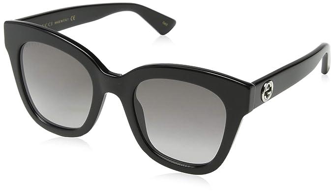 Gucci GG0149S 001, Gafas de Sol para Hombre, Negro (Black/Green)