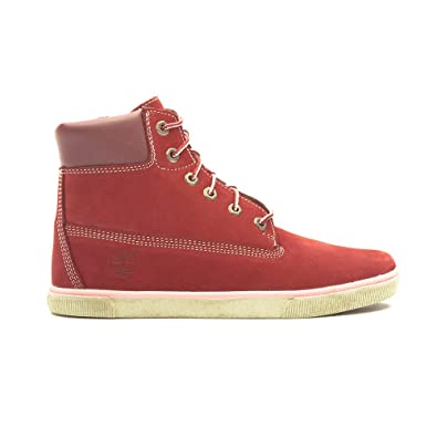 Timberland Junior's Earthkeepers 2.0 6 Inch LaceZip Boots (6uk, Bright Burgundy)
