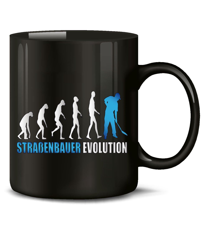 Golebros Altenpflegerin Evolution Beruf Kollege Arbeit 4578 Fun Tasse Becher Kaffeetasse Kaffeebecher Schwarz-Blau