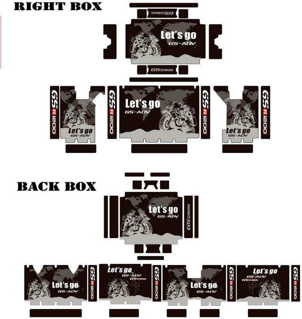R1200GS ADV 3 x R1250GS Adventure Sticker Decal Suitable Decorative stickers for BMW Aluminum BOX black