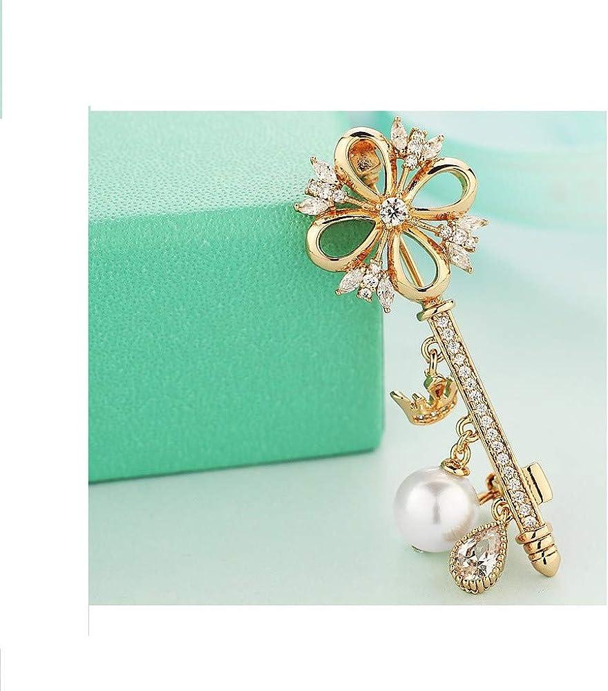 Emorias 1/PCS Broche pour Femme Perle Rose Manteau Pin v/êtements d/écoration joaillerie Cadeau Homme Bijouterie Accessoires