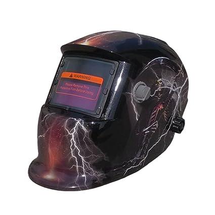 valianto Fire Flames oscurecimiento automático Solar Soldador Máscara Calavera Casco de soldar