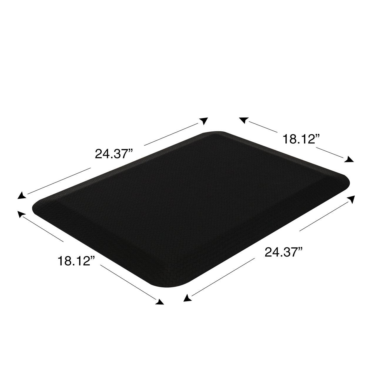 Sorbus Anti Fatigue Mat - Comfort Standing Mat Kitchen Rug - Perfect for Kitchen and Standing Office Desk (24 in x 18 in, Black) by Sorbus (Image #5)