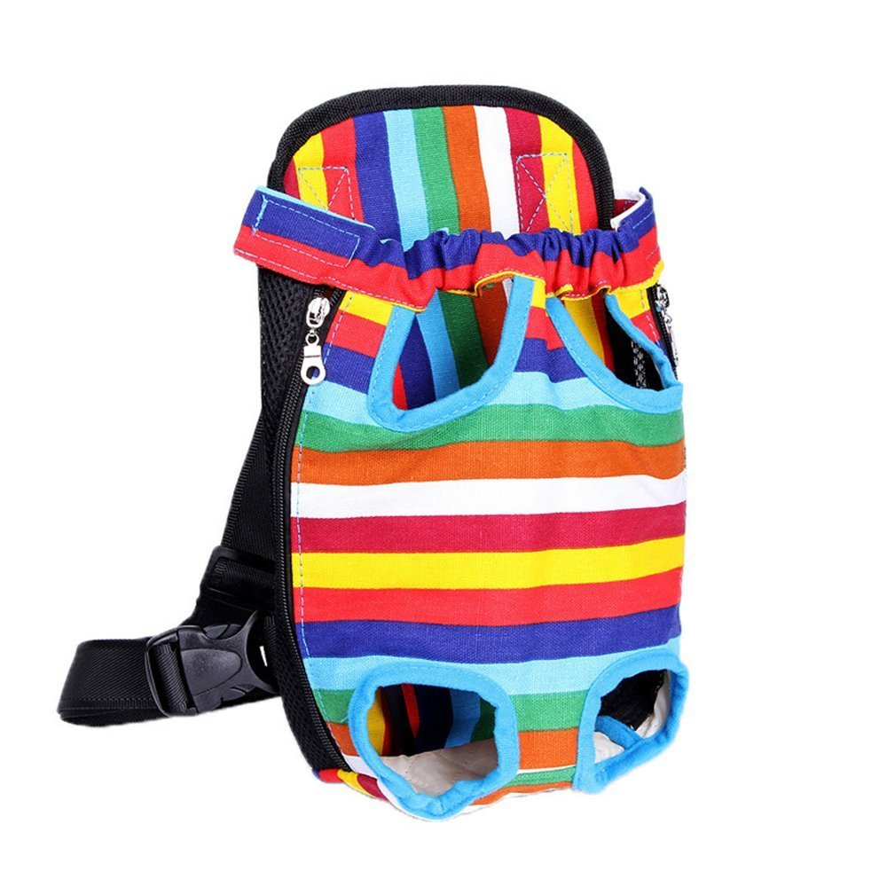 7a7d58999399 YINGJEE Dog Carrier Legs Out Front Pet Carrier Backpack Adjustable Puppy  Cat Small Bag with Shoulder Strap and Sling for Traveling Hiking Camping ...