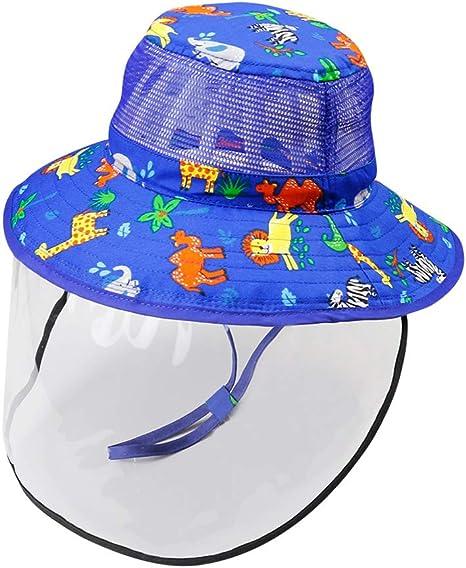 Happy Cherry Baby Sonnenhut Fischerhut mit abnehmbares Gesichtsschutzschirm Visier Sommerhut mit Kinnriemen Farbe//Gr/ö/ße W/ählbar