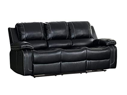 Amazon.com: Oswood Double Reclining Sofa with Center Cup ...