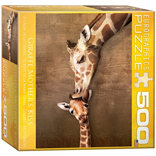 Animals Puzzle Zoo Shaped (Giraffe Mother's Kiss Puzzle, 500-Piece)